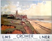 Cromer, Gem of the Norfolk Coast. Vintage LMS and LNER Travel Poster by Walter Dexter.